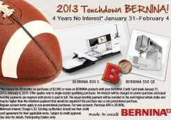 2013 Touchdown Bernina!
