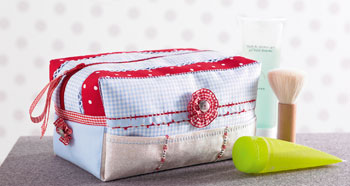 Hemstitched Cosmetic Bag