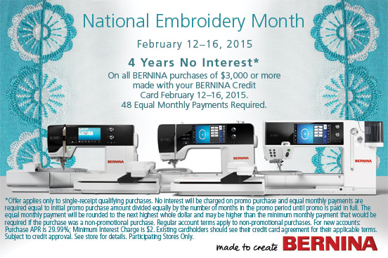 National Embroidery Month 2015