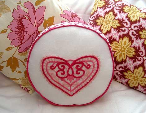 Lacy Love Note Pillow