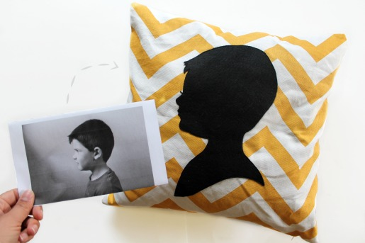 Silhouette Pillow for Mom