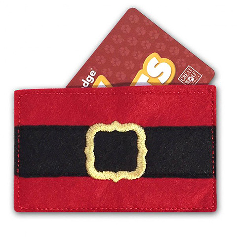 Santa Pants Gift Card Holder