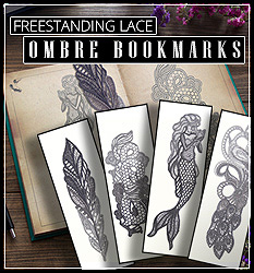 Freestanding Lace Ombre Bookmarks