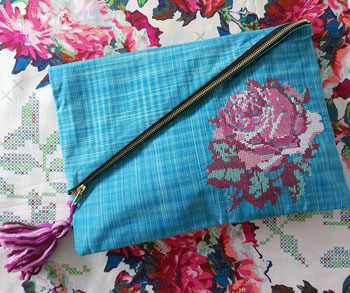 Leaning Rose Clutch