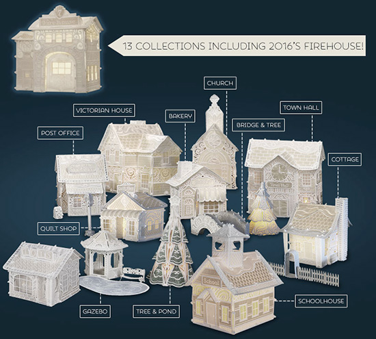 Christmas Village Collections.Heirloom Christmas Village